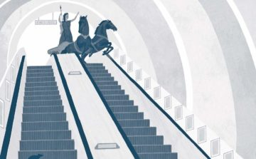 Boudicca: not to found on the escalators either, despite this depiction. Illustration: Sarah Mulvanny