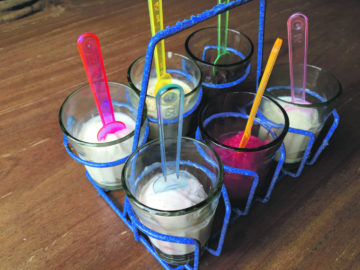 Cute: the tasting rack. Photo: SE