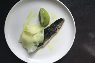 Mackerel with gooseberry. Photo: SE