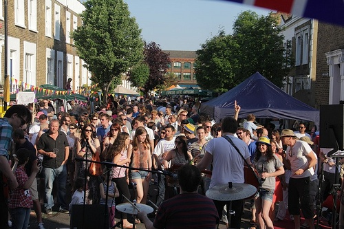 Alma Street Festival, Kentish Town: the right balance of community and gentrification? Photograph by Daniel Solomon
