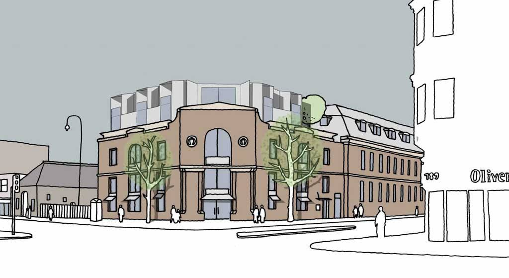 Artist's impression of plans to include an arts cinema