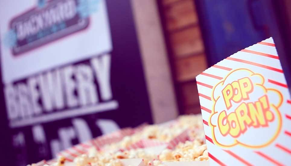 Pop up cinema popcorn
