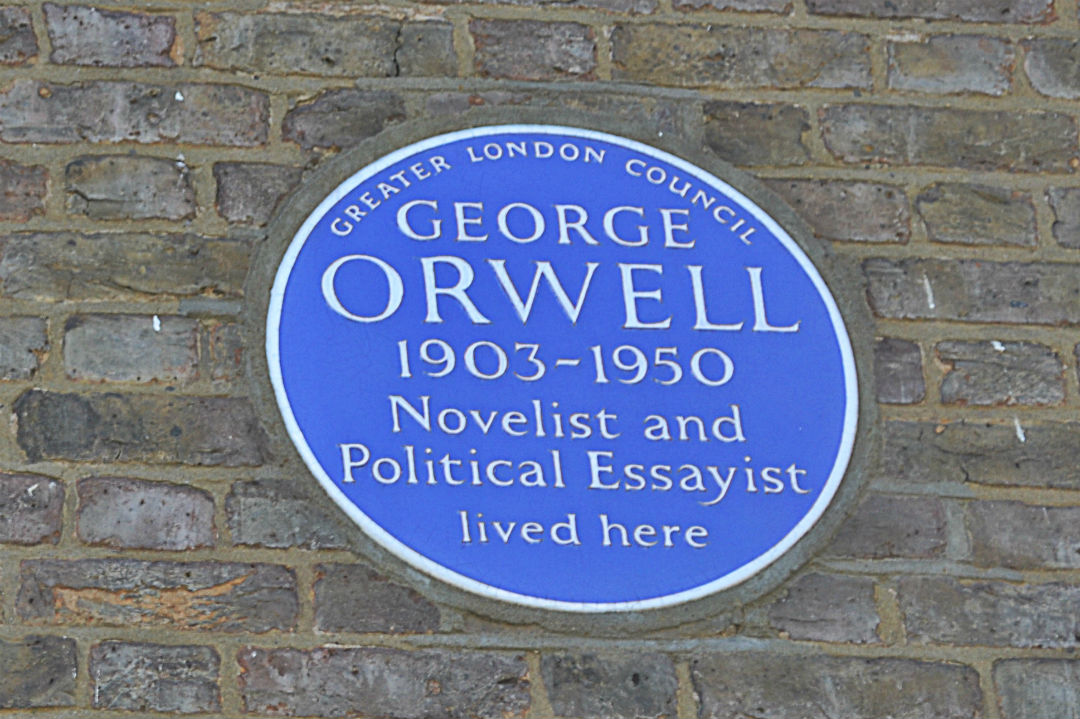 The famous Orwell plaque at 50 Lawford Road NW5. Photo: Stephen Emms