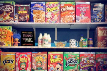 Cereal Killer shelves