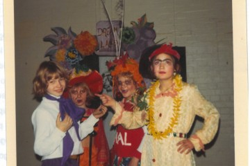 Clyde's class in a play, 1974. Photo: CLS