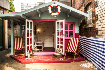 Candy-coloured: the secret beach hut at the York & Albany. Photo: PR