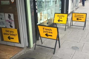 Yellow sign overkill