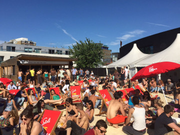 Absolutely rammed. Crowds hit the beach on one of the hottest days last summer. Photo: SE