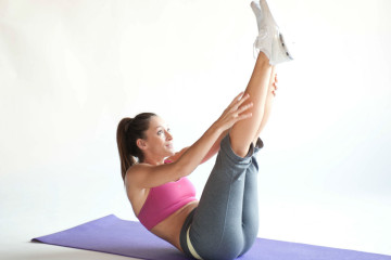 An open leg rocker in Pilates. Photo: Wikihow