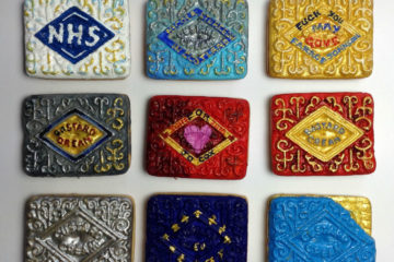The nine biscuits created by Sian Pattenden to date. Photo: SP
