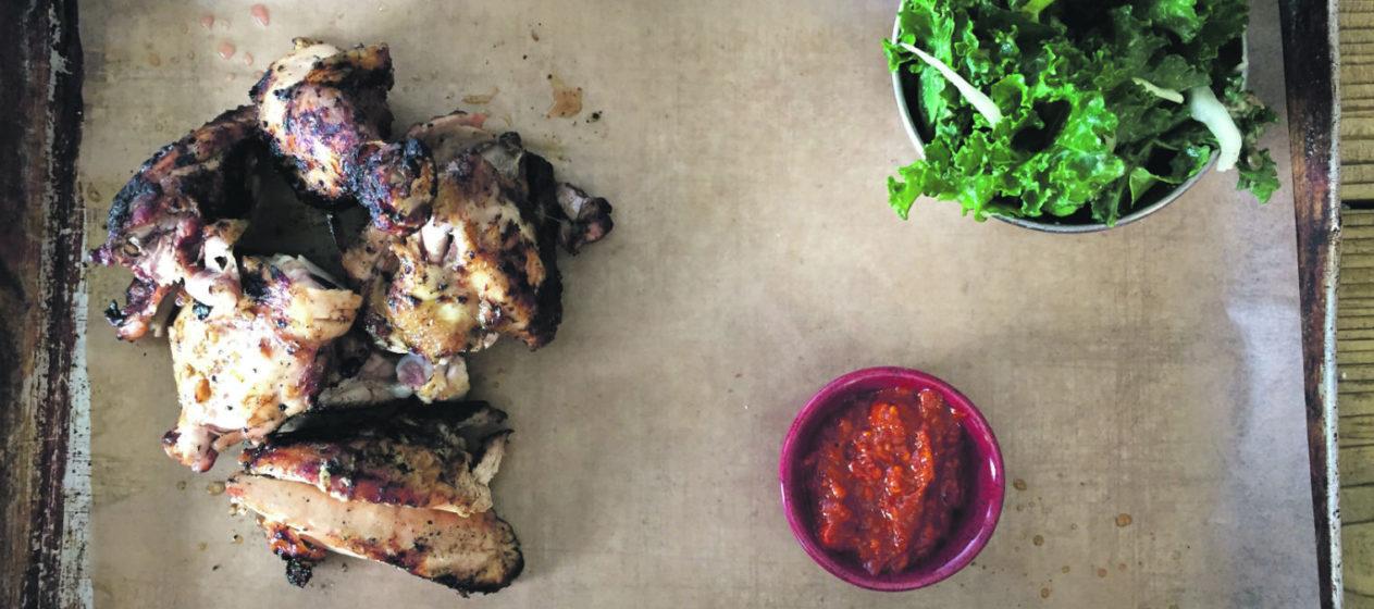 Tasty chicken. Photo: Stephen Emms