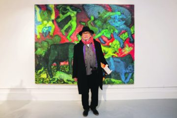Jose Nava at his exhibition at the Koppel Project. Photo: PR