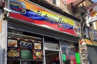 El Arepazo café on West Green Road.