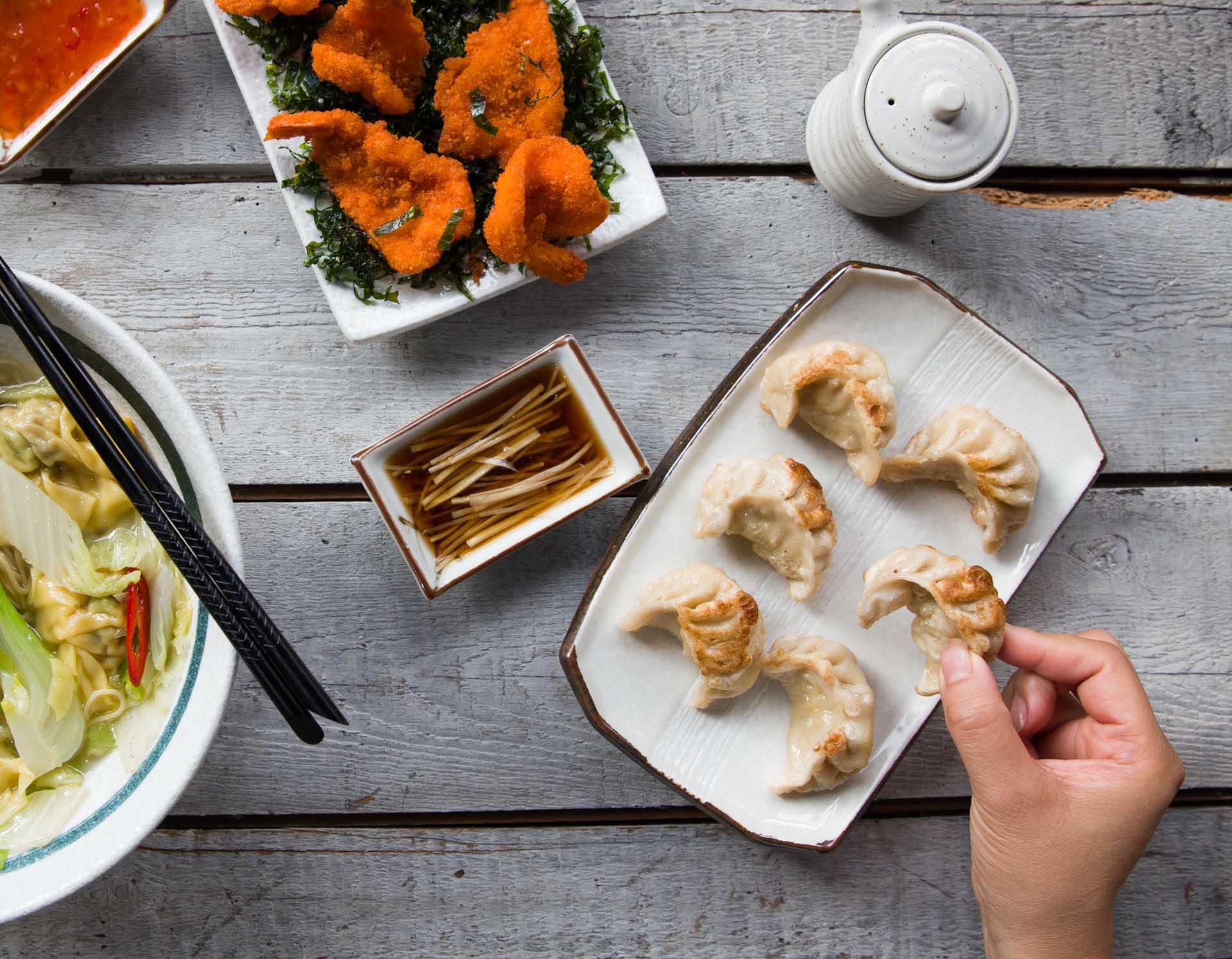 Pork dumplings. Photo by André Ainsworth