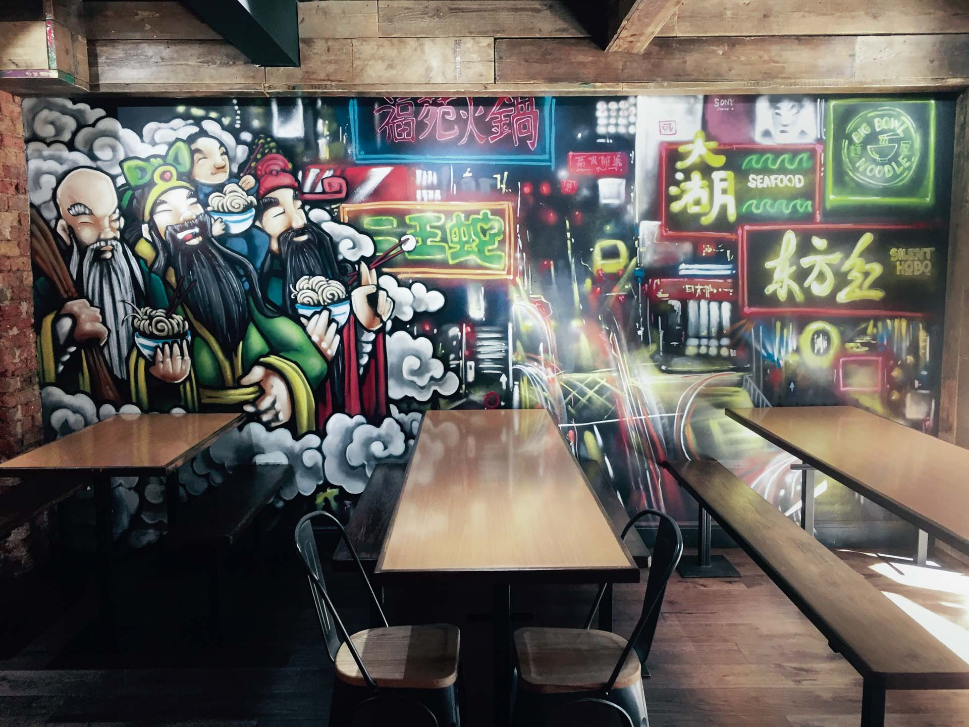 The new mural at the restaurant. Photo by André Ainsworth